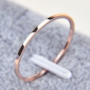 Rose Gold Thin Dainty 1.5 MM Ring B4